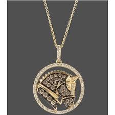 le vian 14k gold necklace chocolate
