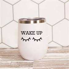 Sleepy Eyes Mug Porcelain Cup Sticker Wake Up With Eyelashes Coffee Cup Decals Party Gift Wine Glass Many Sizes Box Wallpaper Wall Stickers Aliexpress