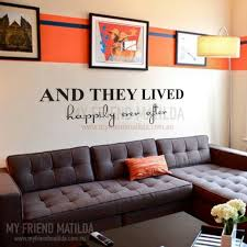 Vinyl Wall Decal Sticker And They Lived Happily Ever After Removable Wall Decals Stickers By My Friend Matilda