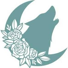 Moon Wolf Flowers Vinyl Decal For Cars Walls Tumblers Cups Etsy In 2020 Car Decals Vinyl Decals Car Decals Vinyl