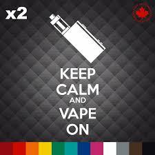 X2 Keep Calm And Vape On Funny Ecigarette Vaporizer Vinyl Decal Sticker Wish