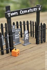 Popsicle Stick Tombstones And Cemetery Ashley Hackshaw Lil Blue Boo
