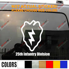 25th Infantry Division Tropic Lightning Electric Strawberry Decal Sticker Vinyl No Background Pick Size Color Car Stickers Aliexpress