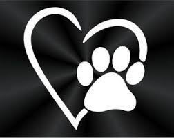 Popular Items For Paw Prints On Etsy Paw Print Decal Paw Print Puppy Prints