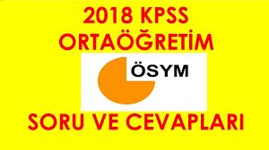 2018 KPSS ORTAÖĞRETİM SORU VE CEVAPLARI - YouTube