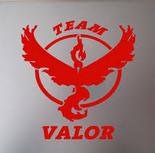 Pokemon Go Team Valor Vinyl Decal Sticker Accessory For Automotive Car Cell Computer Cups Glass Mugs Phone Window Decoration