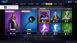 1-12-19 Fortnite Item Shop Update: New Paradox & Lace Skins ...