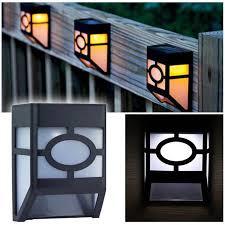Solar Street Lamp Solar Outdoor Waterproof Fence Wall Led Pane Lamp Solar Garden Lights Shopee Philippines