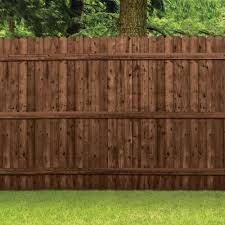 Barrette 6 Ft X 8 Ft Pressure Treated Pine 6 In Dog Ear Tanatone Wood Fence Panel 73000690 The Home Depot