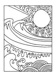 Kleurplaat Zon En Zee Kleurplaten Zomer Kleurplaten Abstracte