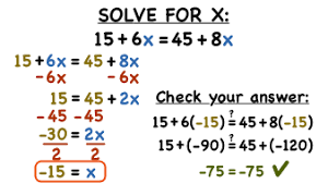 solve an equation with variables
