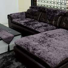 leather sofa cushion plush sofa cloth