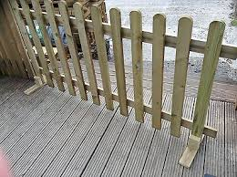 Portable Freestanding Smooth Treated 6ft Picket Fence Panel 2ft 3ft Or 4ft High Ebay Picket Fence Panels Fence Panels Patio Fence