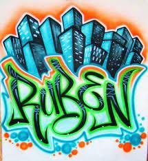 airbrush t shirt city scene with