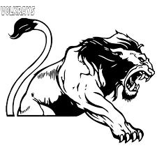Volkrays Personality Car Sticker Predator Animal Lion Non General Accessories Reflective Vinyl Decal Black Silver 15cm 18cm Car Stickers Aliexpress