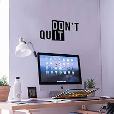 Vinyl Wall Art Decal Don X27 T Quit 11 X 19 Gym Fitness Healthy Funstyling Com