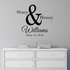 Ampersand Couples Monogram Personalized Wall Decal Jack And Jill Boutique