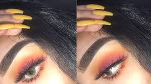 easy sunset eye makeup look you