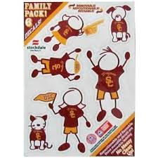 University Of Southern California Usc Trojans 5x7 Small Family Decal Set At Sticker Shoppe