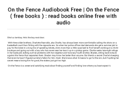 On The Fence Audiobook Free On The Fence Free Books Read Boo