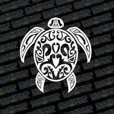 Tribal Sea Turtle Vinyl Decal Ocean Hawaiian Hawaii Multi Color Size Option Ebay