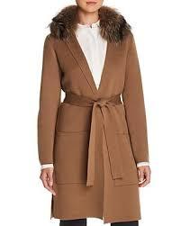 Kobi Halperin Addie Genuine Fox Fur Collar Wrap Sweater In Camel | ModeSens