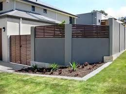 Image Result For Concrete Wall Fence Modern Fence Design Brick Fence Fence Design