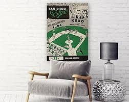 San Diego Padres 1971 Print Vintage Baseball Poster Retro Etsy