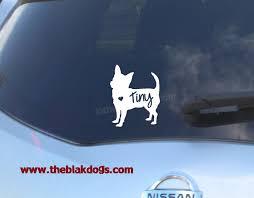 Chihuahua Silhouette Vinyl Sticker Car Decal Personalized Blakdogs Vinyl Designs