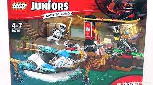 LEGO Juniors Ninjago Zane's Ninja Boat Pursuit - Playset 10755 Toy Unboxing  & Speed Build - video dailymotion