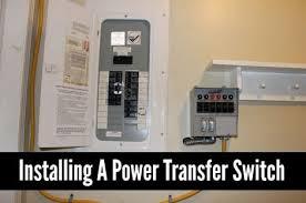 solar installing a power transfer switch