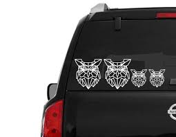 Owl Family Stickers Car Window Decal Fast Shipping Etsy