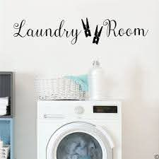 Laundry Room Wall Decal Vinyl Laundry Room Decor Wall Sticker Laundry Sign With Bubbles Decals For Home Wash Room Sign We173 Wall Stickers Aliexpress