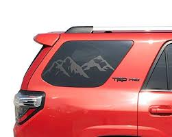 Amazon Com Mountain Decals For Toyota 4runner In Matte Black For Side Windows Tf12a Handmade