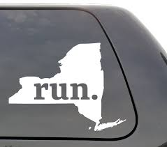 New York Run Decal New York Ny Run Decal State Running Decal Car Decal Yeti Decal Laptop Decal Window Decal Vinyl Decal