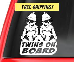 Twins On Board Car Decal 24 Baby Shower Gift Ideas For Parents Expecting Twins Popsugar Family Photo 20