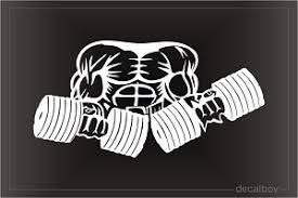 Bodybuilding Weightlifting Decals Stickers Decalboy