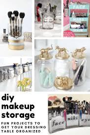 28 brilliantly easy diy makeup storage