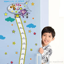 Fire Truck Aerial Ladder Height Measurement Wall Sticker Kids Boys Room Nursery Growth Chart Wall Decal Cartoon Animal Wallpaper Flower Wall Stickers Flowers Wall Stickers From Magicforwall 11 05 Dhgate Com