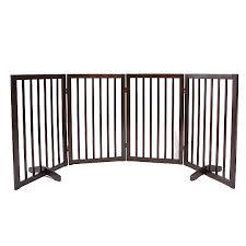 Top Paw 4 Panel Freestanding Wood Pet Gate Dog Dog Doors Gates Petsmart