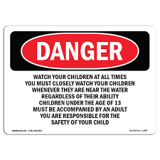 Osha Danger Sign Watch Your Children At All Times 10 X 7 Decal Protect Your Business Construction Site Warehouse Shop Area Walmart Com Walmart Com