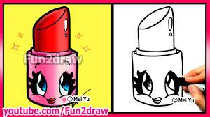 draw cartoons cute lipstick makeup