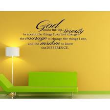 God Grant Serenity Prayer Vinyl Wall Decal Quotes Wall Stickers Religious Decals Home Decor Decals Jr34 Walmart Com Walmart Com