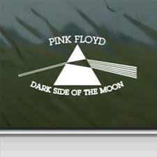 Pink Floyd White Sticker Decal Dark Side From Amazon Stickers