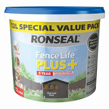 Ronseal Fence Life Plus Charcoal Grey Matt Fence Shed Wood Treatment 12l Departments Diy At B Q