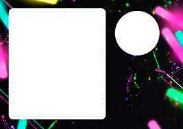 Fiesta Neon Invitaciones Para Imprimir Gratis Oh My 15 Anos
