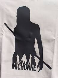 Michonne Silhouette Tshirt From The Walking Dead Michonne Silhouette Tshirt Print
