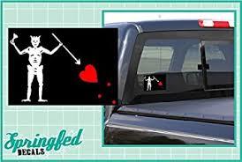 Amazon Com Black Beard S Jolly Roger Pirate Flag 5 Vinyl Decal Car Truck Window Sticker Automotive