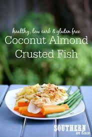 Coconut Almond Crusted Baked Fish