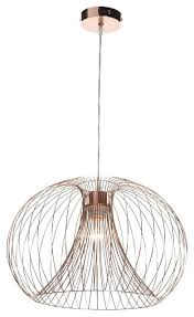 wire copper pendant ceiling light